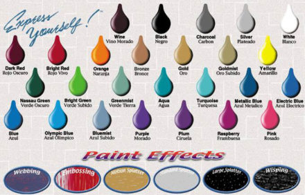 Color Chart and Effects Custom Graphics