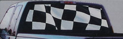 Checkered Flag glasscapes truck window vinyl