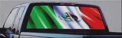 mexican flag glasscapes truck window vinyl