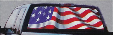 stars and stripes glasscapes truck window vinyl