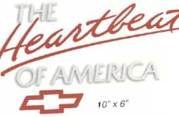 Heartbeat Of America Decals Red & White, Red, White & Blue