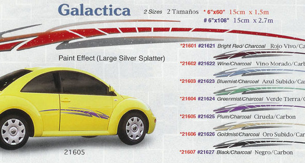 "Galactica 6"" x 60"" 6"" x 108"" Custom Vinyl Graphics"