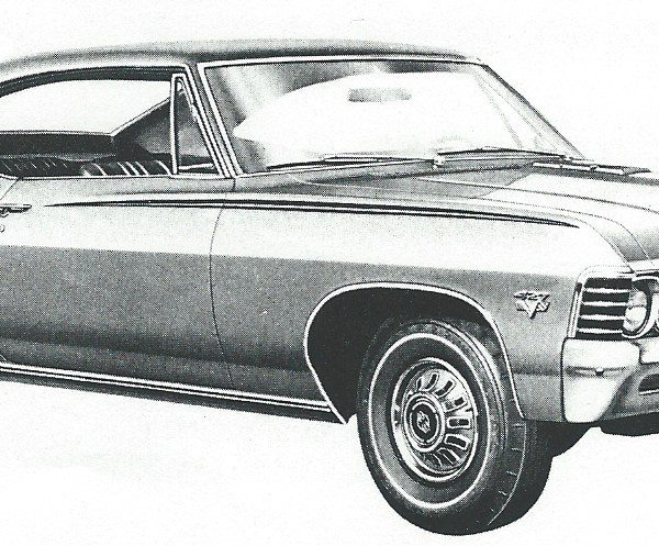 1967 Impala Eyebrow Stencil kit