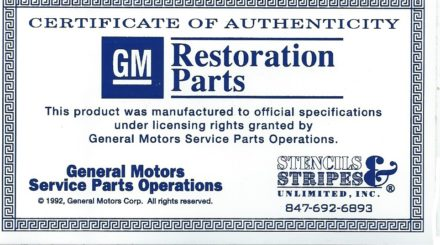 GM licensed reproduction