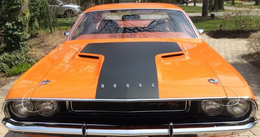 1970 Challenger R T Hood Blackout Decal
