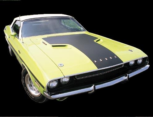 1970 Challenger Stripe Kit. New Reproduction 3M matte black