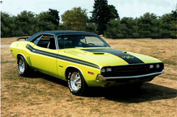 1971 Challenger side stripe kit with R/T callout