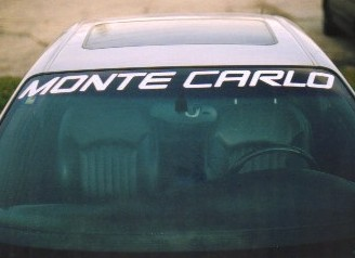 1995 - 2002 Monte Carlo windshield decal