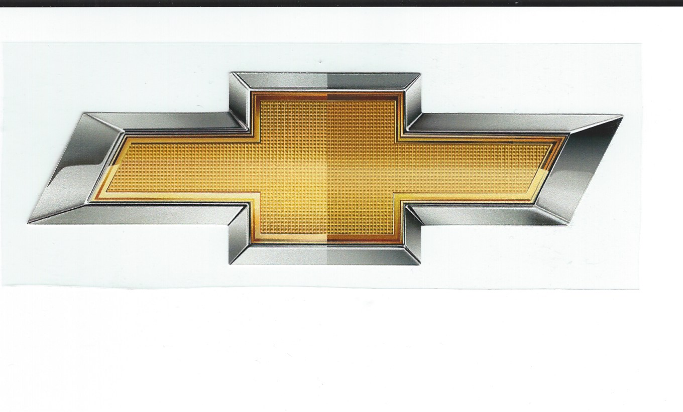 Chevrolet Gold Truck Bowtie Decals