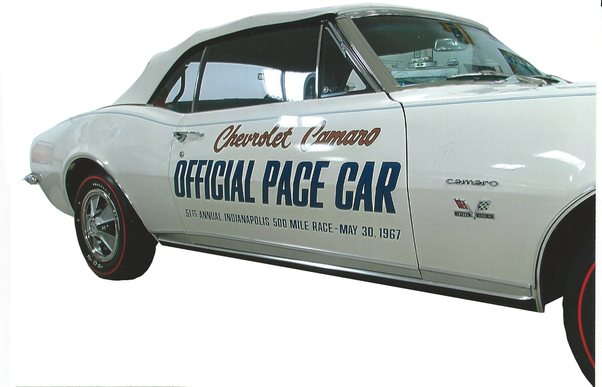 1967 & 1969 CHEVROLET CAMARO PACE CAR DOOR DECAL SET
