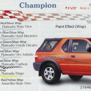"Champion 3"" x 72"" 6"" 108"" Custom Vinyl Graphics"