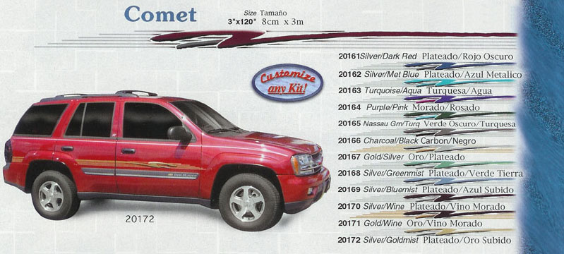 "Comet 3"" x 120"" Custom Vinyl Graphics"