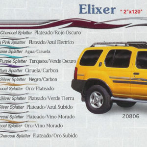 "Elixer 2"" x 120"" 3"" x 120"" Custom Vinyl Graphics"
