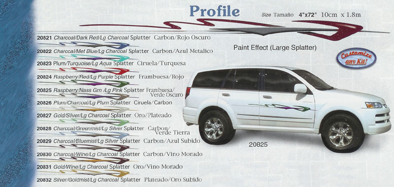 "Profile 4"" x 72"" Custom Vinyl Graphics"