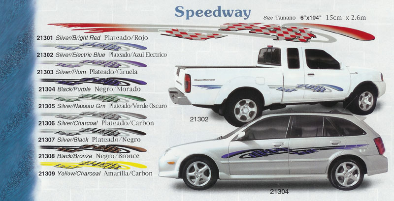 Speedway 6 x 104 custom vinyl graphics