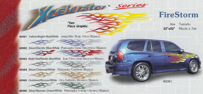 "Xcelerator Series Firestorm 22"" x 82"" Custom Vinyl Graphics"