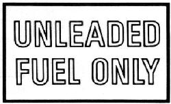 Unleaded Fuel Decals