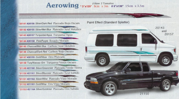"Aerowing (3"") 3"" x 120"" 6"" x 138"" Custom Vinyl Graphics"