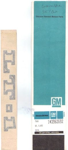 LT-1 GM decal