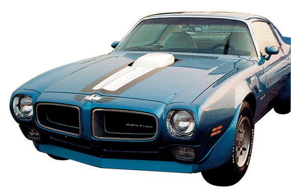 1970 1971 1972 PONTIAC TRANS-AM FRONT BUMPER DECAL BLUE