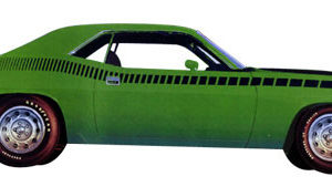 1970 AAR CUDA strobe stripe kit