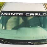 1995 - 2007 Monte Carlo windshield decal