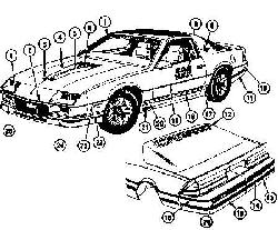 1982 Camaro Pace Car Indy Diagram
