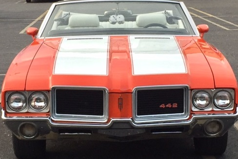1970-72 Oldsmobile without Ram Air hood W-30 style & W-31 Olds paint stencil / stripe kit