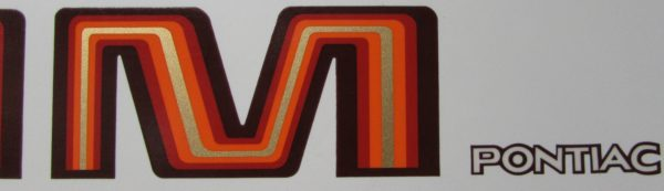1979-80 Trans Am assorted decals in various colors.