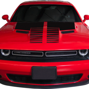 015-18 Dodge Challenger Hood Stripe with Aggressive Split Strobe Accent