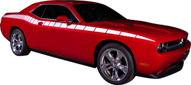 2011-14 Dodge Challenger Body Side Strobe Stripe Kit