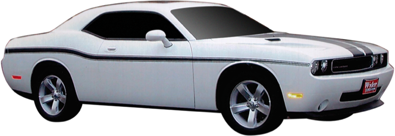 2011-14 Dodge Challenger Lower Body Side Stripe Kit