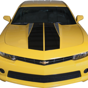 2014-15 Camaro Dual Hood Stripe with accent color