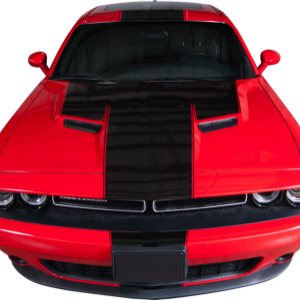 2015-18 Dodge Challenger Front, Hood, Roof,Trunk,Spoiler,and Rear Bumper Stripe with Accent Line