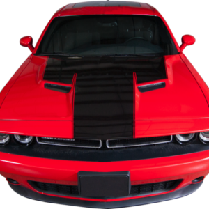 2015-18 Dodge Challenger Hood & Front Panel Stripe with Accent Line
