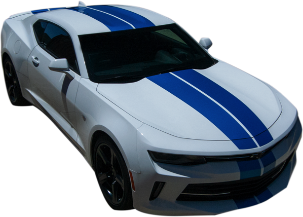 2016-18 Camaro Dual Hood, Roof, Trunk, Spoiler Stripe Kit