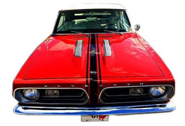 1967 Barracuda Hood, Roof Trunk stripe kit