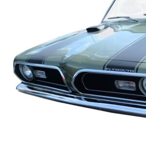 1969 Barracuda hood-header stripe kit