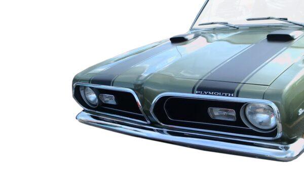 1969 Barracuda hood-header stripe kit