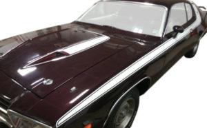 1973-74 Plymouth Road Runner Hood Bulge Stripe - Stencils